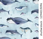 seamless watercolor pattern... | Shutterstock . vector #1294015096