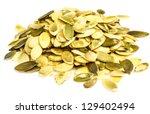 pumpkin seeds | Shutterstock . vector #129402494