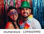 couple in costume celebrating... | Shutterstock . vector #1294024990