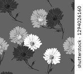 blossom floral seamless pattern ... | Shutterstock .eps vector #1294026160