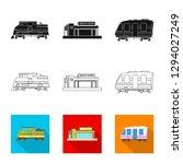 bitmap design of train and...   Shutterstock . vector #1294027249