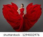woman red dress  fashion model... | Shutterstock . vector #1294032976