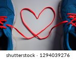 2 running shoes with laces...   Shutterstock . vector #1294039276