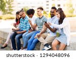 technology  friendship and... | Shutterstock . vector #1294048096