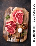 raw marbled ribeye steak. fresh ... | Shutterstock . vector #1294051600