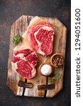 raw marbled ribeye steak. fresh ... | Shutterstock . vector #1294051600