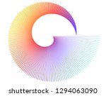 abstract spiral rainbow design... | Shutterstock .eps vector #1294063090