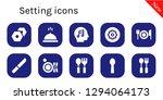 setting icon set. 10 filled... | Shutterstock .eps vector #1294064173