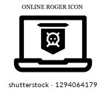 jolly roger search icon....   Shutterstock .eps vector #1294064179