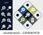 seek icon set. 13 filled seek... | Shutterstock .eps vector #1294065919