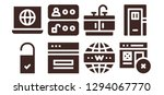 enter icon set. 8 filled enter ... | Shutterstock .eps vector #1294067770
