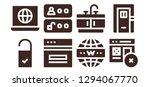 enter icon set. 8 filled enter ... | Shutterstock .eps vector #1294067770