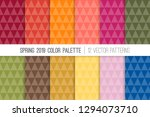 low poly triangle vector... | Shutterstock .eps vector #1294073710