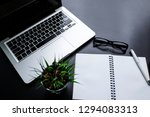 office leather desk table with... | Shutterstock . vector #1294083313
