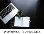 office leather desk table with... | Shutterstock . vector #1294083316