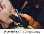 smoker smoking hybrid smokeless ... | Shutterstock . vector #1294083409