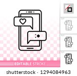 love chat thin line icon.... | Shutterstock .eps vector #1294084963