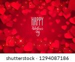 happy valentine's day love... | Shutterstock .eps vector #1294087186
