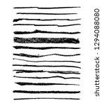 black vector strokes of pastel...   Shutterstock .eps vector #1294088080