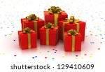 gift boxes. white background | Shutterstock . vector #129410609