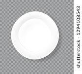 realistic white porcelain dish | Shutterstock .eps vector #1294108543