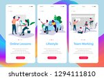 set of web page templates for... | Shutterstock .eps vector #1294111810