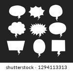 isolated white blank empty... | Shutterstock .eps vector #1294113313