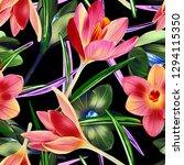 illustration of crocus flower... | Shutterstock . vector #1294115350