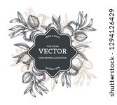vector vintage background with... | Shutterstock .eps vector #1294126429