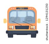 school bus. vehicle for... | Shutterstock . vector #1294131250