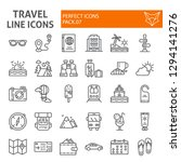 travel line icon set  tourism... | Shutterstock .eps vector #1294141276