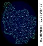 polygonal vector mesh map of... | Shutterstock .eps vector #1294145476