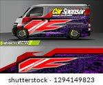 cargo van livery graphic vector....   Shutterstock .eps vector #1294149823