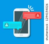chat messages notification on... | Shutterstock .eps vector #1294154026