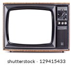 the old tv on the isolated... | Shutterstock . vector #129415433
