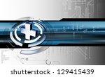 digital illustration of... | Shutterstock . vector #129415439