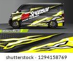 cargo van livery graphic vector.... | Shutterstock .eps vector #1294158769