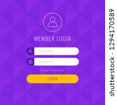 vector geometric login page in...