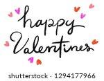 valentine day  love letter ... | Shutterstock . vector #1294177966