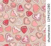 hearts background. cookies... | Shutterstock .eps vector #1294191280