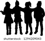 children of silhouettes. | Shutterstock .eps vector #1294209043