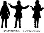 children of silhouettes. | Shutterstock .eps vector #1294209139