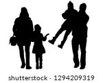 vector silhouette of family. | Shutterstock .eps vector #1294209319