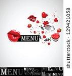 menu cafe bar | Shutterstock .eps vector #129421058