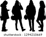 silhouette of a woman. | Shutterstock .eps vector #1294210669