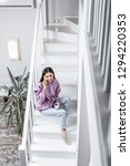 light spacious house. top view... | Shutterstock . vector #1294220353