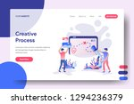 landing page creative process ... | Shutterstock .eps vector #1294236379