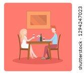 illustration with romantic... | Shutterstock .eps vector #1294247023