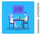 happy couple in love. romantic... | Shutterstock .eps vector #1294248703