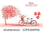 valentine's day background with ... | Shutterstock .eps vector #1294260946